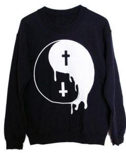 Yin Yang Cross Sweatshirt ZK01