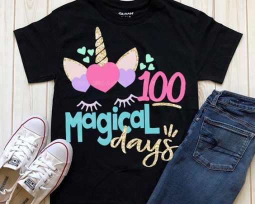 100 Magical Days School T-Shirt SR01