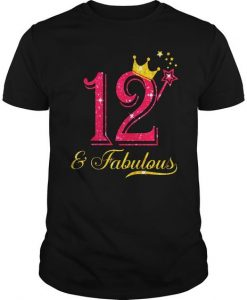 12th Birthday Girl Fabulous T-Shirt EL01