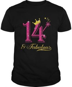 14th Birthday Girl Fabulous T-Shirt EL01