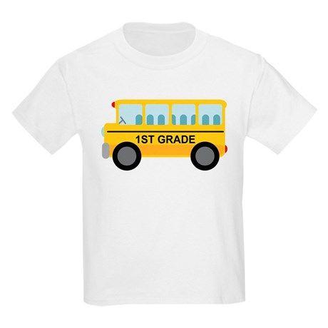 1st Grade School Bus T-Shirt SR01