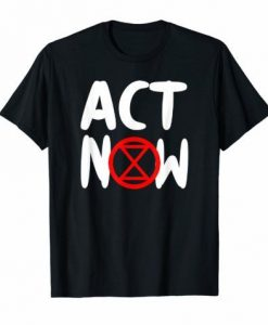 Act Now Black Tee Shirt ZK01