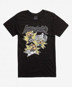 Aggretsuko Office Rage Black T-Shirt DV01