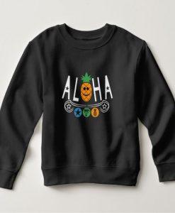 Aloha Pineapple Print Sweatshirt SR01
