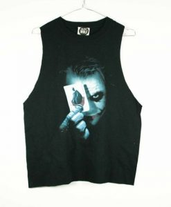 Batman Joker Black muscle tee Tank Top AZ01