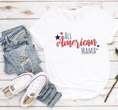 All American Mama Tshirt EL9D