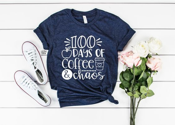 100 Days Of Coffee T-Shirt DL10F0