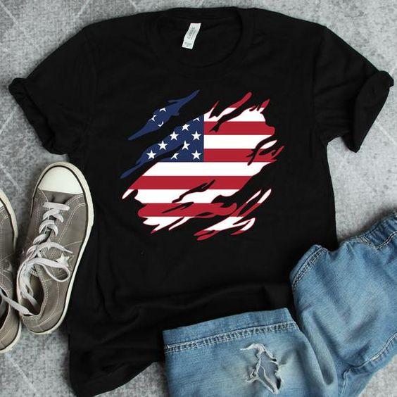 American flag T-Shirt ND31J0