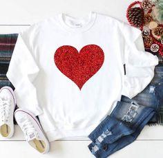 Glitter Heart Sweatshirt EL5F0