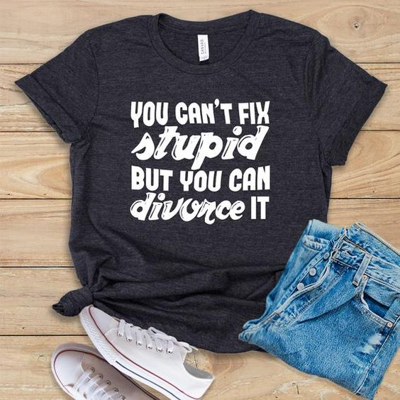You Can't Fix Stupid T-Shirt DL10F0