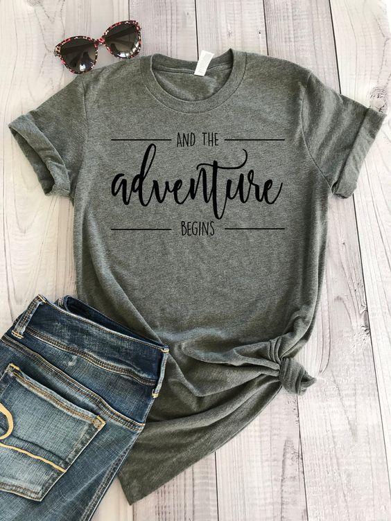 Adventure Begins T Shirt SE23A0