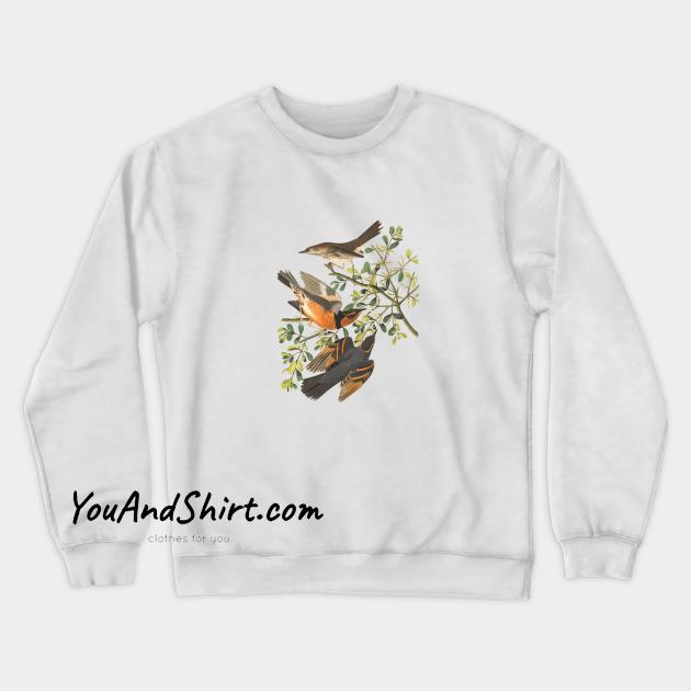 Bird Design Vintage Sweatshirt AL1D0