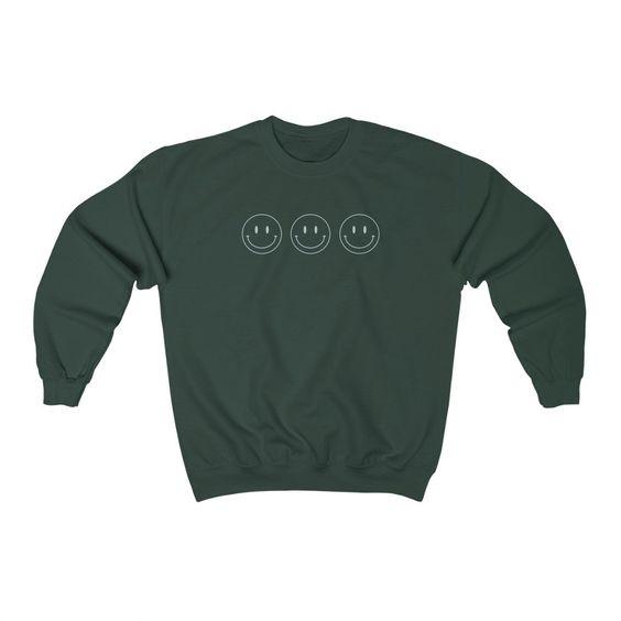 All Smiles Blue Vintage Sweatshirt FA20MA1